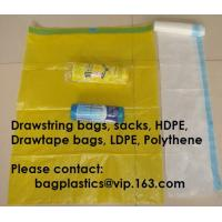 Wholesale HDPE DRAWTAPE SACKS, nappy bags, nappy sack, diaper bag, alufix, rubbish bag, garbage from china suppliers