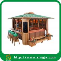 Wholesale Outdoor wooden gazebo pavilion(WG-04) from china suppliers