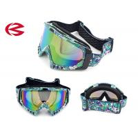 Wholesale Anti Fog / Impact Resistant Motorcycle Riding Goggles Dirt Bike Goggles With Mirror Lens from china suppliers