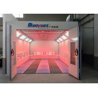 Quality Car Paint Spray Booth Centrifugal Fan Infrared Heating Separate Control for sale