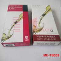 Wholesale Color printed paper box for wine pourer with chill rod ME-TB039 from china suppliers