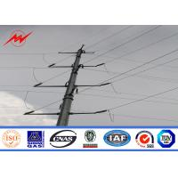Buy cheap 69kv 10m hot dip galvanized steel pole Distribution Line Steel Power Pole With Cross Arm Accessories from wholesalers