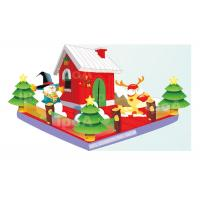 Wholesale Customized Inflatable Giant Christmas House Childrens Bouncy Castle With Slide from china suppliers