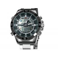 Wholesale Weide Quartz Mens Military Watches Stainless Steel With Chronograph Date from china suppliers