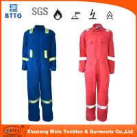 Buy cheap NFPA2112 88/12 cotton/nylo high tear resistant fire proof coverall for welding Industry from wholesalers