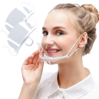 Buy cheap Flat Anti Fog Clear Plastic Mouth Cover For Catering from wholesalers