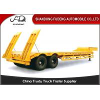 Wholesale Double axles low bed truck semi-trailer low flatbed trailer spring suspension from china suppliers