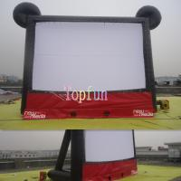 Wholesale Amazing Cute Mickey Outdoor Inflatable Movie Screen / Theater Screens With Two Side Projecting from china suppliers