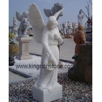 Wholesale White Marble Angles Carving from china suppliers