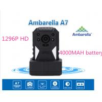Wholesale Full HD 1296P ambarella Police Body Worn Camera 12 hours 4000MAH battery from china suppliers