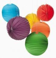 Wholesale Chinese Colorful Round Decorative Hanging Paper Lanterns With Metal Wire from china suppliers
