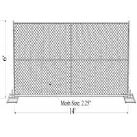 "Wholesale 6' x 14' ""wise man"" temporary chain link fence panels tube 1-1/2""diameter /38mm from china suppliers"