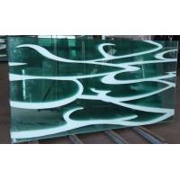 Wholesale 10MM white wave tempered glass as decoration glass from china suppliers