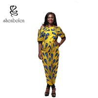 Wholesale Summer Women African Style Jumpsuit Strapless Straps Sleeves Loose Piece Pants from china suppliers