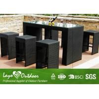 Wholesale LY Factory Audit Passed Modern Design Patio Outdoor Fu Rattan Garden Bar Rattan Garden Bar Stool Sets Sutdoor Furniture from china suppliers