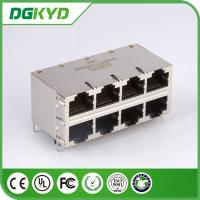 Wholesale DGKYD24Q077HWA4D RJ45 Magnetics , 2X4 RoHS Gigabit Ethernet Rj45 0811-2X4R-28-F from china suppliers
