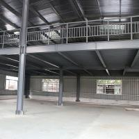 Wholesale Steel Frame Shed With Mezzanine Floor, Useing Floor Deck To Support Concrete from china suppliers
