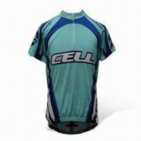 Wholesale Cycling Jersey with 3 Pockets on the Back and 1/4 Length Zip, Suitable for Road Use from china suppliers