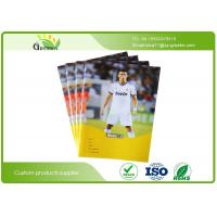 Quality School Lined Exercise Books , Football Star Coated Cover Writing Exercise Books for sale