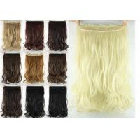 Wholesale Girls 24 Inch Synthetic Hair Extensions Natural Curly Human Hair Ponytail from china suppliers