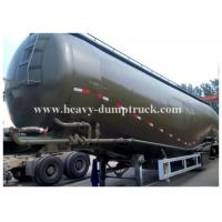 Wholesale Carbon steel Durable Bulk Cement Power Trailer 75Tons and 78CBM , Silo Trailer with warranty from china suppliers