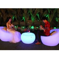 Wholesale Remote Control Bar Tables 16 Colors Changing Round Plastic Rechargeable Led from china suppliers