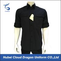 Wholesale Quick Dry Black Men's Military Shirt , Short Sleeve Work Shirts For Outdoor Hunting from china suppliers