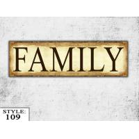 Wooden Wall Decor Signs : Wooden family sign gift living room wood wall