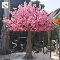 Wholesale UVG 3 meters tall artificial trees with pink cherry blossom flowers for garden wedding decoration CHR142 from china suppliers