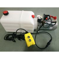 Buy cheap mini Hydraulic Power Packs 12V DC 1.6kw with 8L plastic tank max pressure 210bar from wholesalers