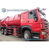 Wholesale 18000 L HOWO Sewer Flushing Truck 336hp Vacuum Suction Sewage Truck from china suppliers