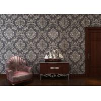 Wholesale Removable Embossed Vinyl Wallpaper with Sliver and Black Damask Pattern from china suppliers