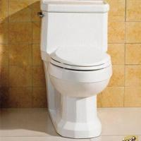 Quality Two-piece Ceramic Toilet with Gravity Flushing Method, Comes in White for sale