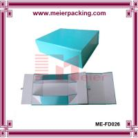Wholesale Shoe box, Paper shoe boxes, Blue foldable paper packaging box ME-FD026 from china suppliers