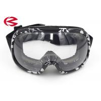 Wholesale Transparent Lens Black Frame Ski Snowboard Goggles Elastic Band Ski Sunglasses from china suppliers