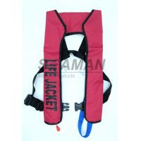 Wholesale 150N EN / ISO Automatic Inflatable Life Jackets 210D Nylon TPU Single Air Chamber from china suppliers