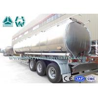 Quality 170 HP 3 Axle Fuel Tank semi trailer Sinotruk 13 Ton Customized Design for sale