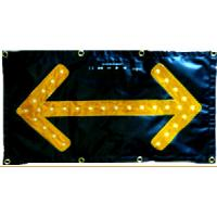Wholesale High Visibility Traffic Control Arrow Boards Chevron LED Flashing Arrow Sign from china suppliers