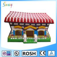 Wholesale Popular 0.55mm PVC Obstacle Course Bounce House Theme Park Cool from china suppliers