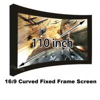 Wholesale Best Selling 110 Inch Arc-shaped Fixed Frame Front Projection Screens Ultra HD 4K Display from china suppliers