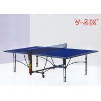 Wholesale U Structure Foldable Table Tennis Table Moveable Round Tube Leg With Wheels from china suppliers