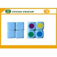 Wholesale 16 * 16 * 16mm White 6 Sided Dice With Each Sided Silk Printing Colorful Circle from china suppliers