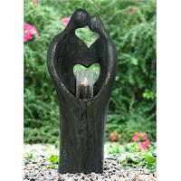 Quality Cement Material Indoor Water Features Fountains In Kiss Lover Shape for sale