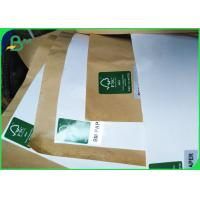 Wholesale 100gsm + 15g Single PE Poly Coated White & Brown Kraft Paper Roll For Food Bags from china suppliers