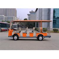 Quality 14 Person Electric Sightseeing Car , Tourist Electric Shuttle Bus Battery Powered for sale
