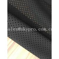 Wholesale Breathable SBR Neoprene Fabrics Foam Roll Super Thin Black Perforated Neoprene from china suppliers