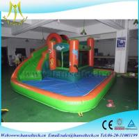 Wholesale Hansel best selling commercial inflatable bouncer jumping castle with water slide in Guangzhou from china suppliers