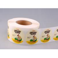 Quality Print Vinyl Adhesive Product Stickers Labels Printing With Glassine Paper for sale