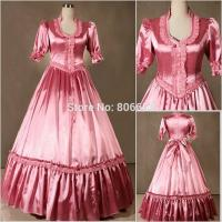 Wholesale Wholesale Civil War Victorian Gothic Dress Ball Gown Southern Belle Dress Cosplay Costumes by Satin with XXS to XXXL from china suppliers