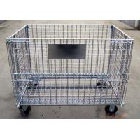 Wholesale Industrial Stacking Folding Steel Wire Container Storage Cages For Cargo Transport from china suppliers
